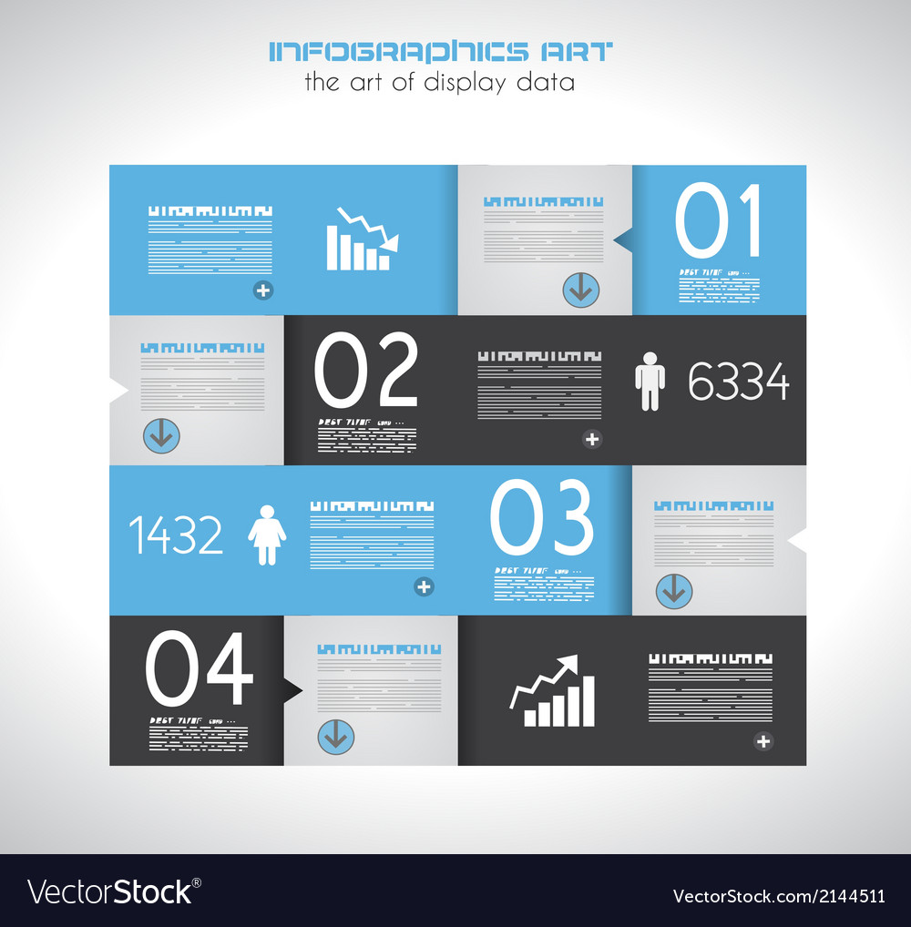 Infographic design template with paper tags vector   Price: 1 Credit (USD $1)