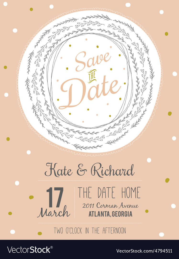 Inspirational romantic and love save the date vector | Price: 1 Credit (USD $1)