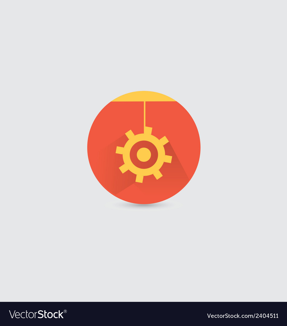 Long shadow setting icon vector | Price: 1 Credit (USD $1)