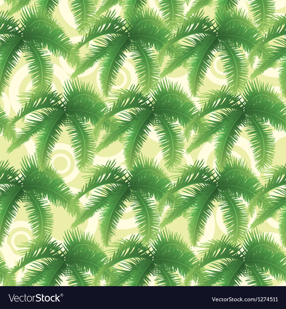 Seamless pattern palm leaves vector | Price: 1 Credit (USD $1)