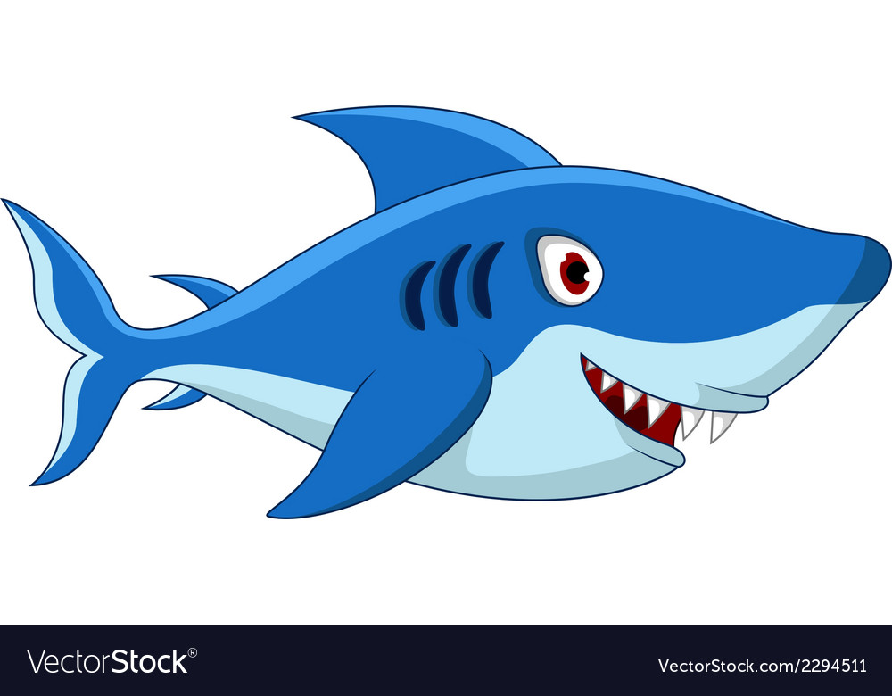 Shark cartoon for you design vector | Price: 1 Credit (USD $1)