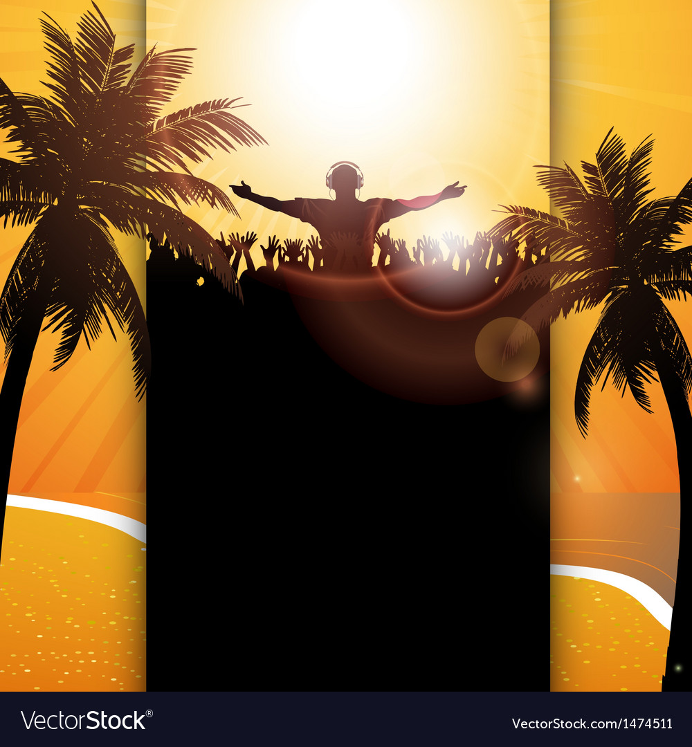 Summer festival panel background vector | Price: 1 Credit (USD $1)