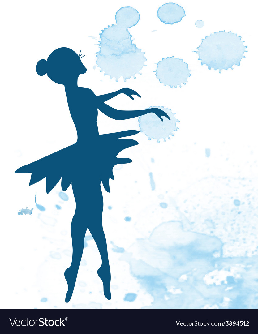 Ballerina and artistic background vector | Price: 1 Credit (USD $1)