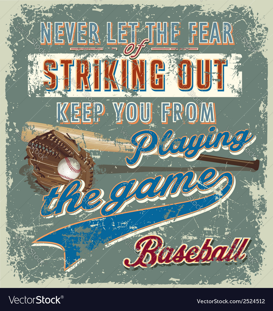 Baseball striking out crack paint vector | Price: 1 Credit (USD $1)