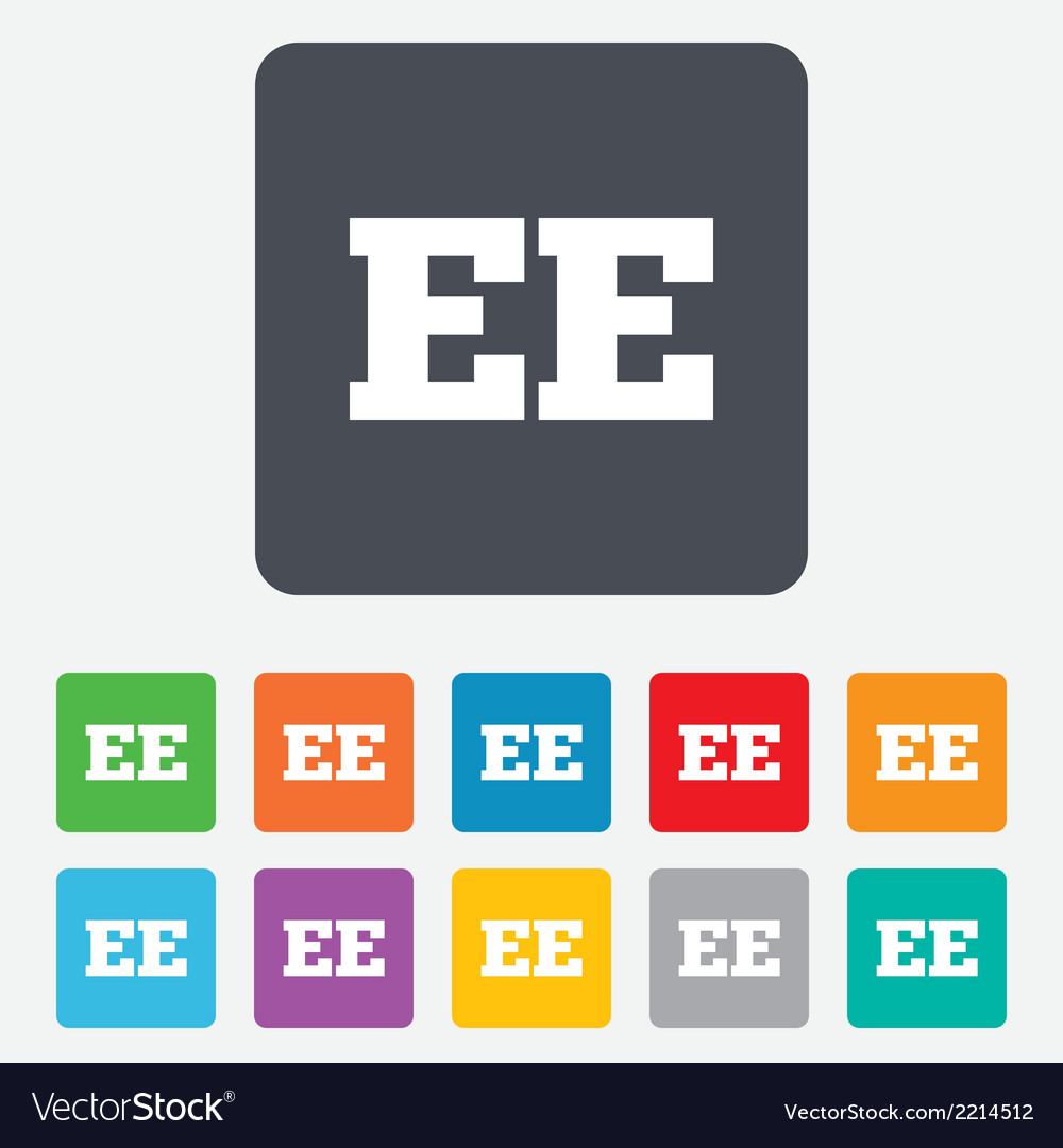 Estonian language sign icon ee translation vector | Price: 1 Credit (USD $1)