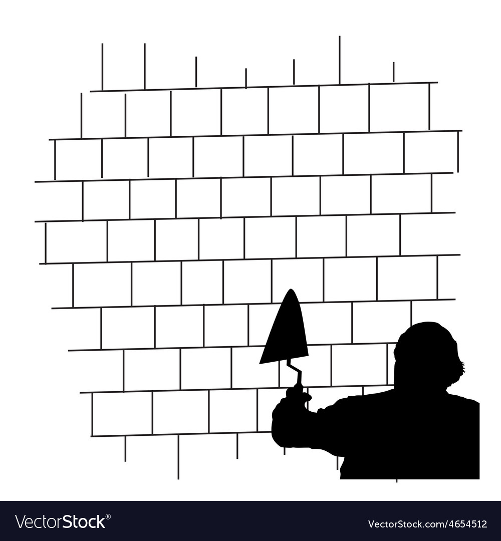 Man front the brick wall vector   Price: 1 Credit (USD $1)