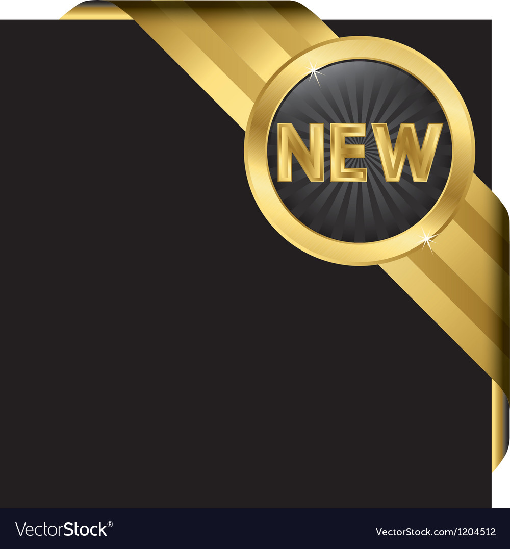 New ribbon page label vector | Price: 3 Credit (USD $3)