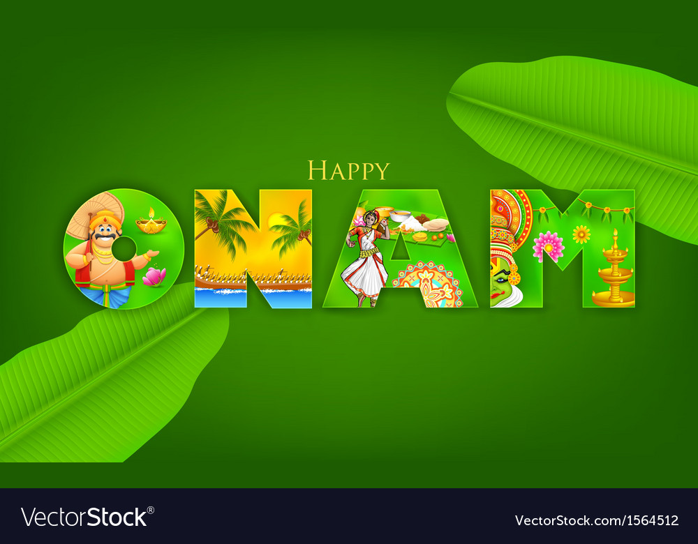 Onam background vector | Price: 1 Credit (USD $1)