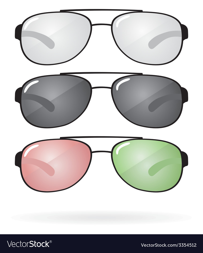 Set of sunglasses and eyeglasses vector | Price: 1 Credit (USD $1)