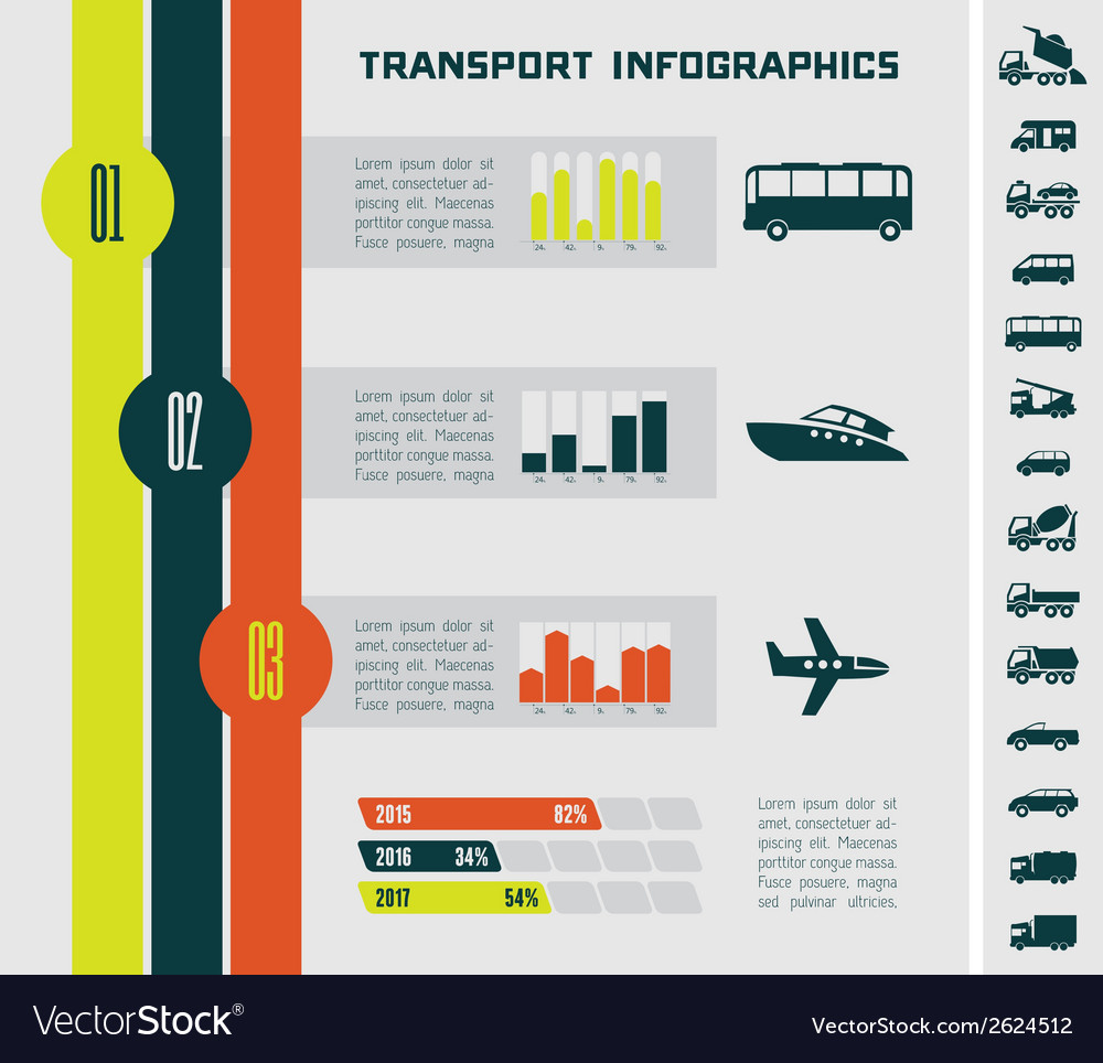 Transportation infographic template vector   Price: 1 Credit (USD $1)