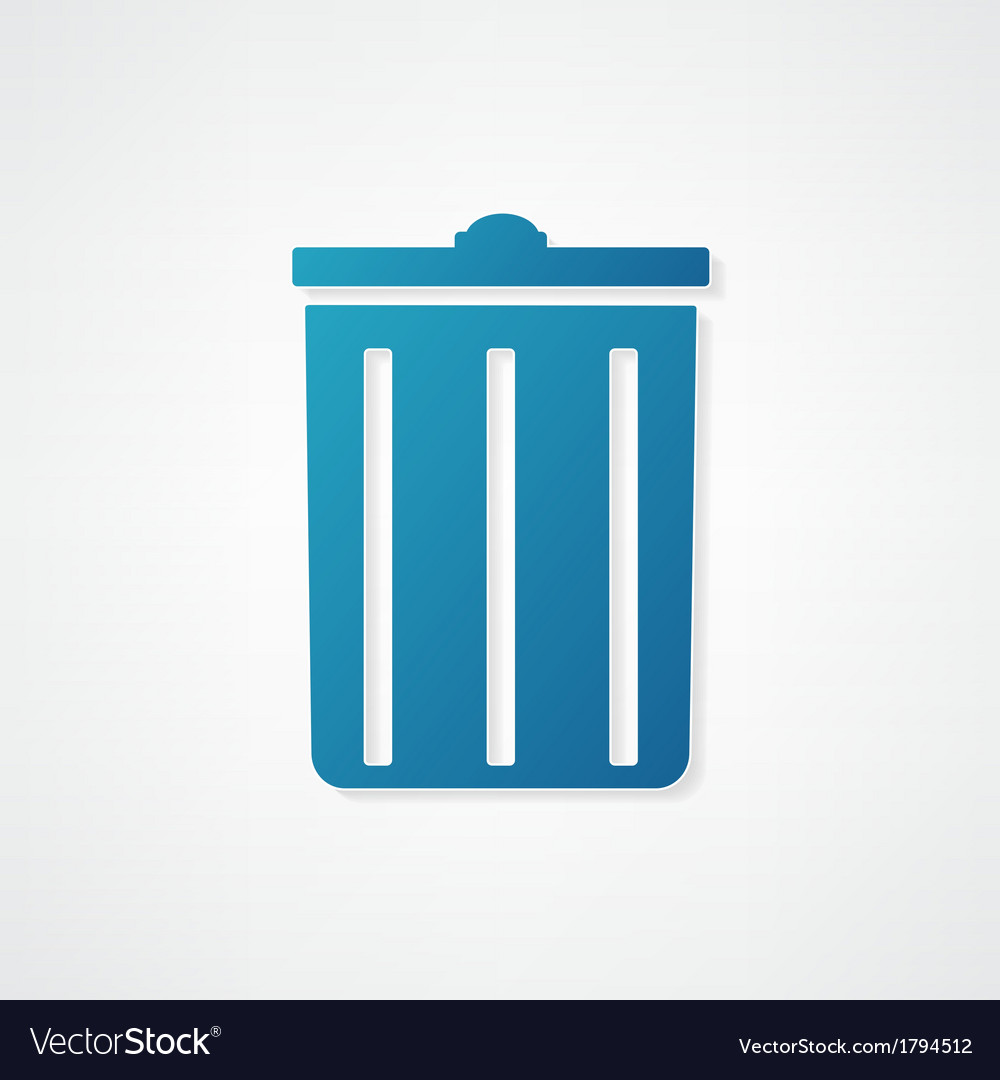 Trash can icon is blue vector | Price: 1 Credit (USD $1)