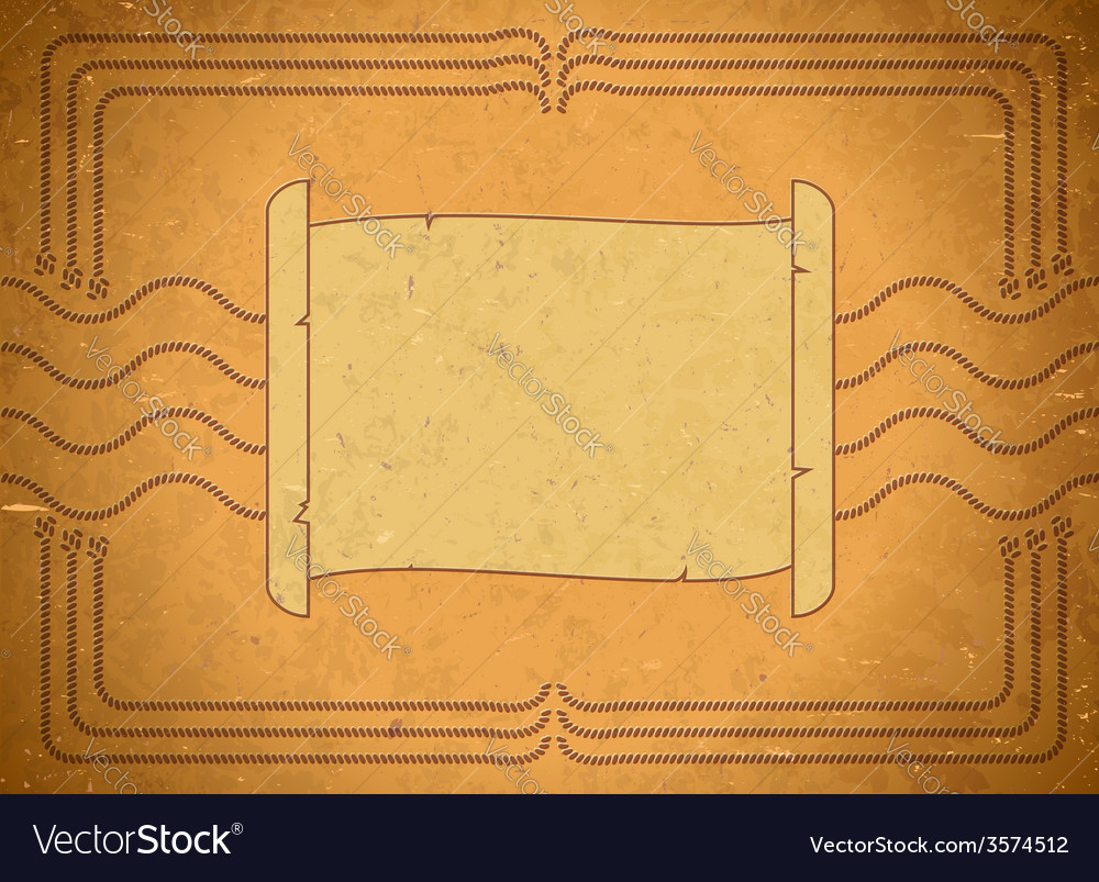 Vintage frame with scroll vector | Price: 1 Credit (USD $1)