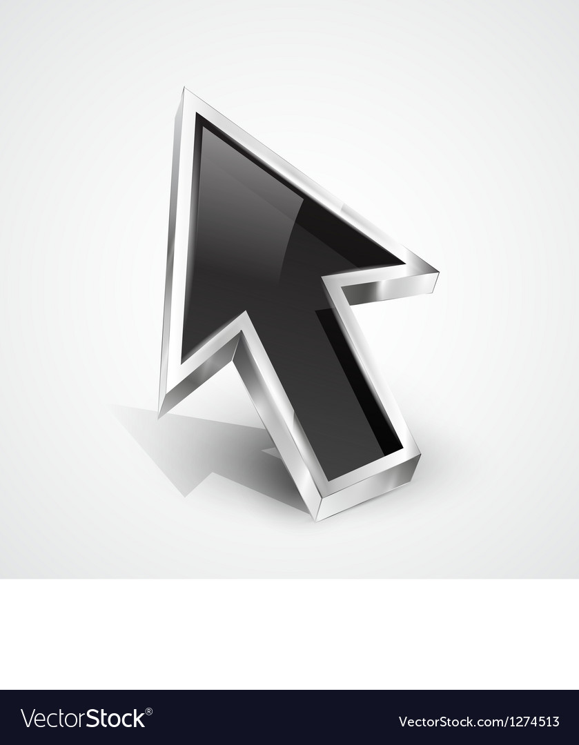 3d glossy arrow mouse pointer vector | Price: 1 Credit (USD $1)