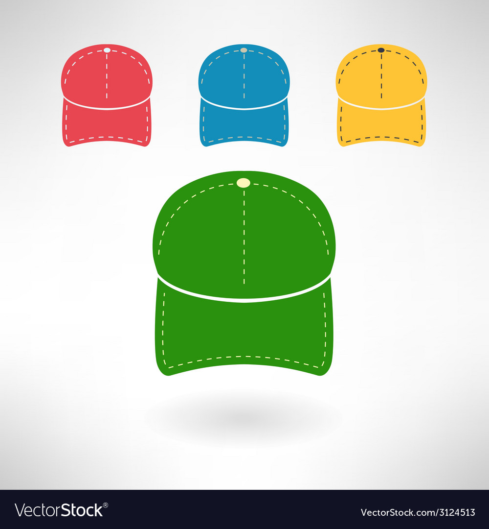 Baseball cap in modern flat design national vector | Price: 1 Credit (USD $1)