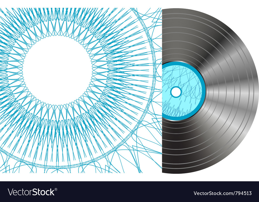 Black vinyl disc vector | Price: 1 Credit (USD $1)
