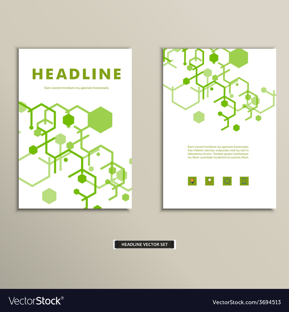 Book cover with abstract figures connected lines vector   Price: 1 Credit (USD $1)