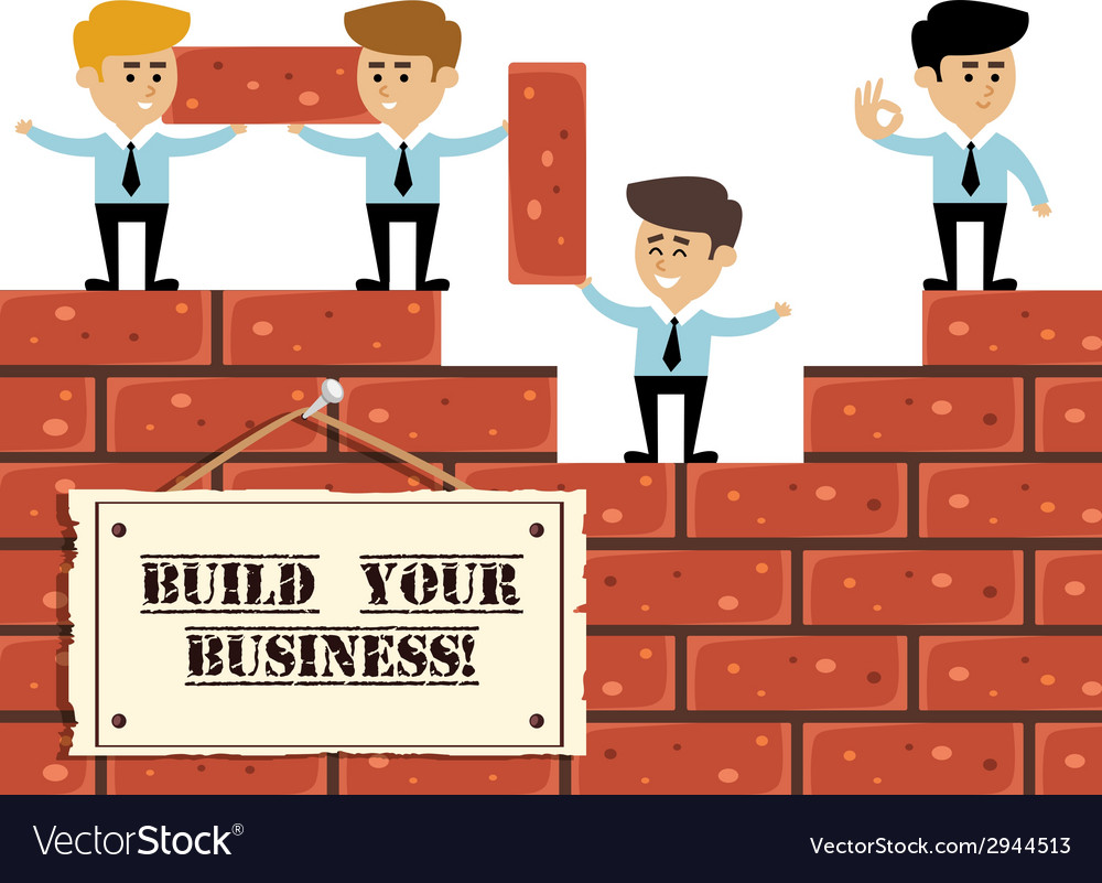 Build business concept vector | Price: 1 Credit (USD $1)