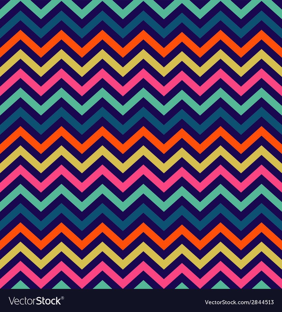 Colorful zigzag seamless pattern vector | Price: 1 Credit (USD $1)