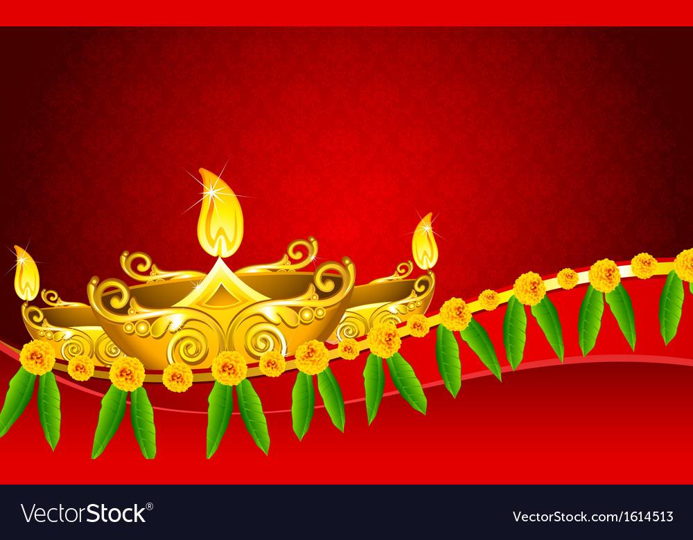 Diwali diya vector | Price: 1 Credit (USD $1)