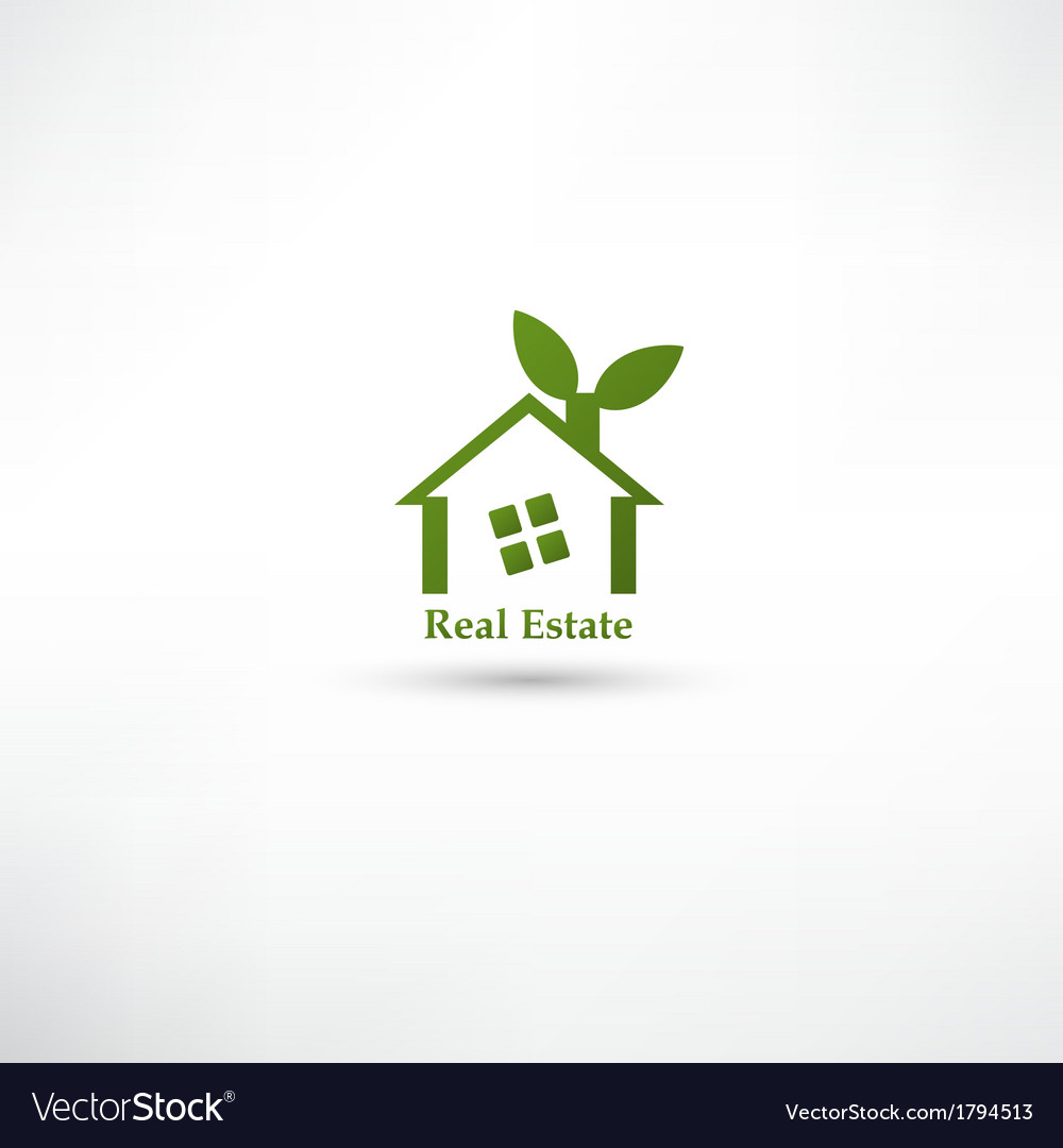 Green real estate concept design vector | Price: 1 Credit (USD $1)