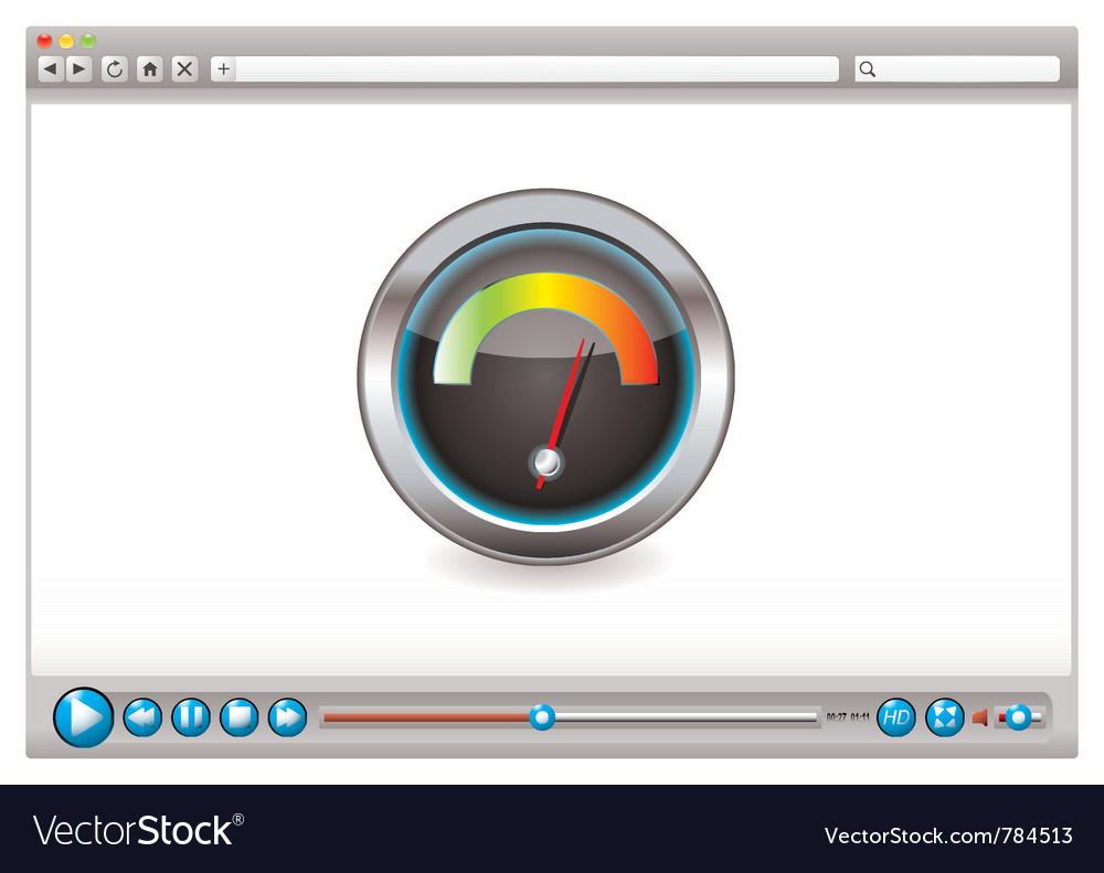 Internet world wide web speed checker vector | Price: 1 Credit (USD $1)