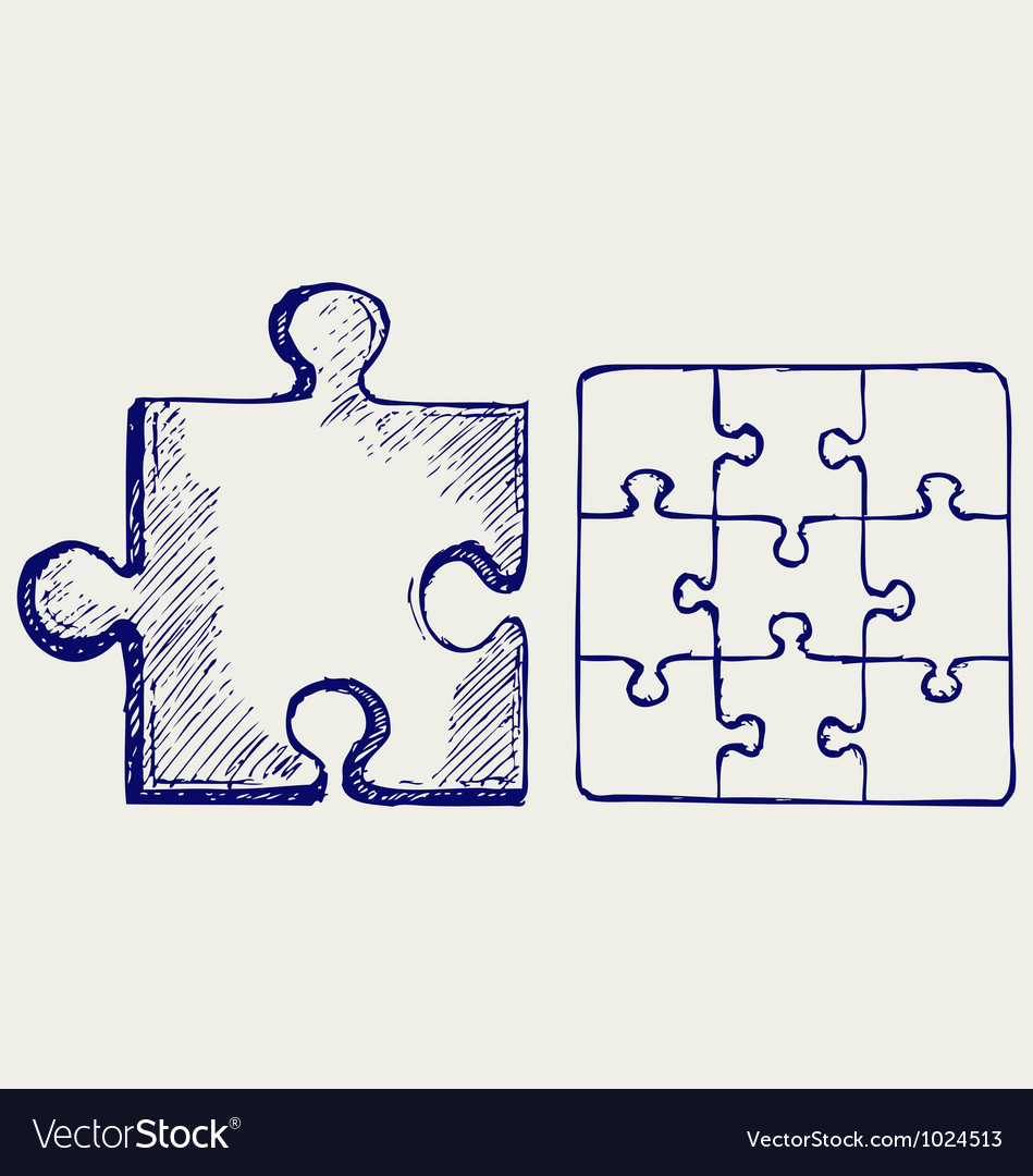 Jigsaw puzzle vector | Price: 1 Credit (USD $1)