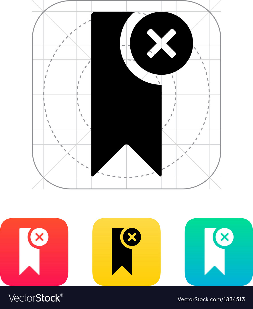 Remove bookmark icon vector | Price: 1 Credit (USD $1)