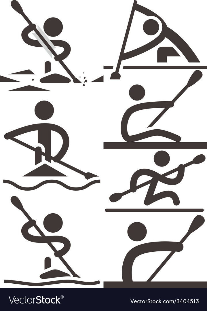 Rowing and canoeing vector | Price: 1 Credit (USD $1)