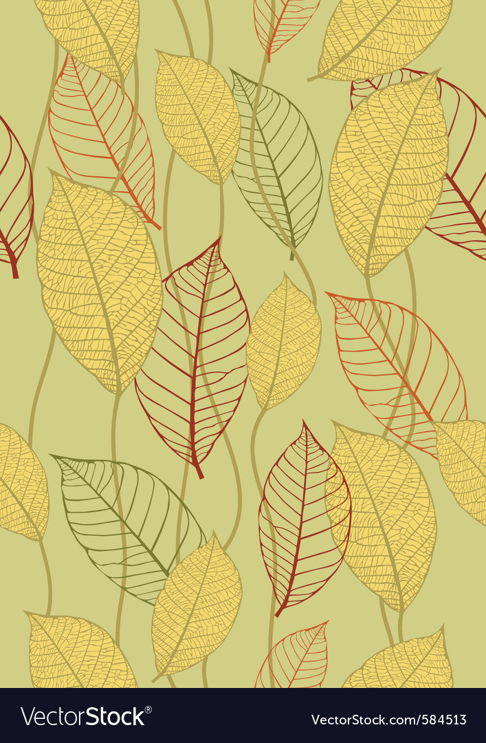 Seamless autumn background vector | Price: 1 Credit (USD $1)