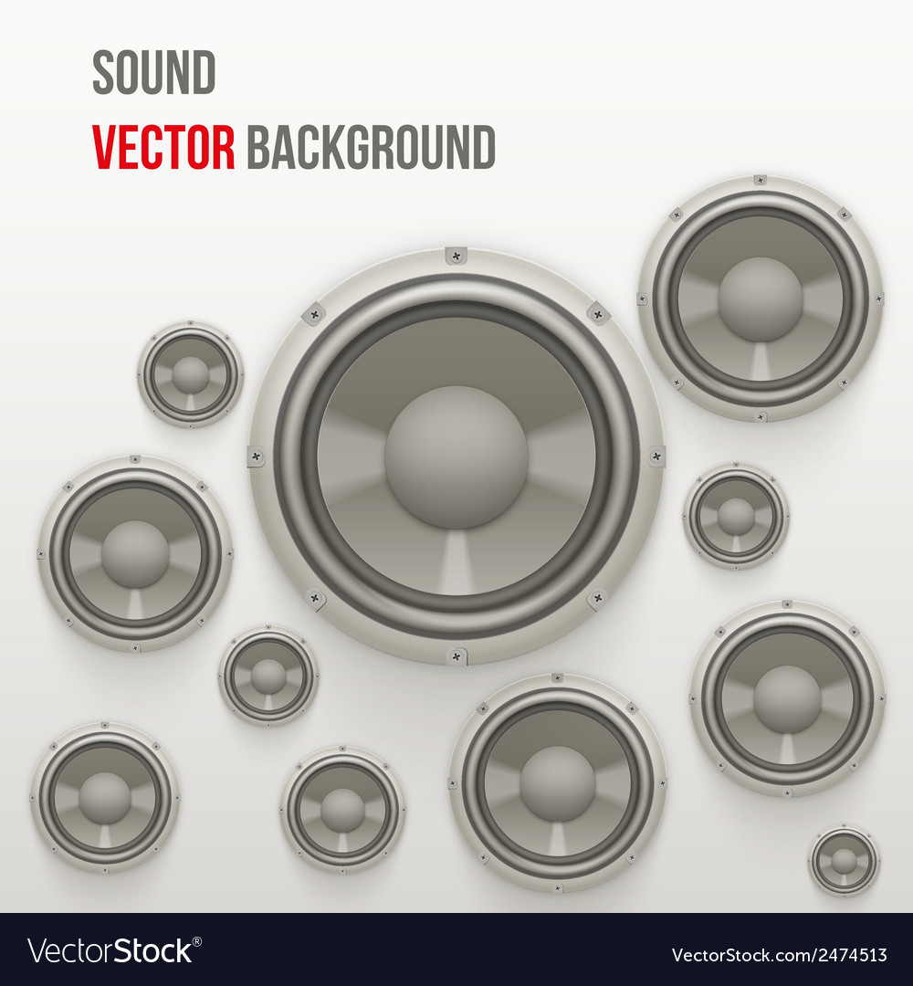 Sound load speakers on light background vector | Price: 1 Credit (USD $1)