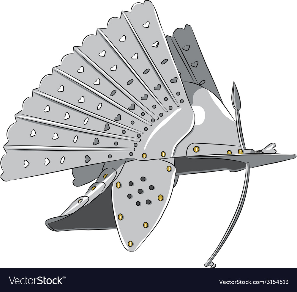 Steel knight helmet vector   Price: 1 Credit (USD $1)