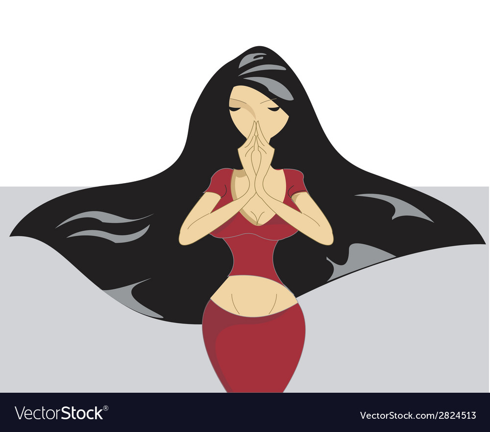 Woman with long hair vector | Price: 1 Credit (USD $1)