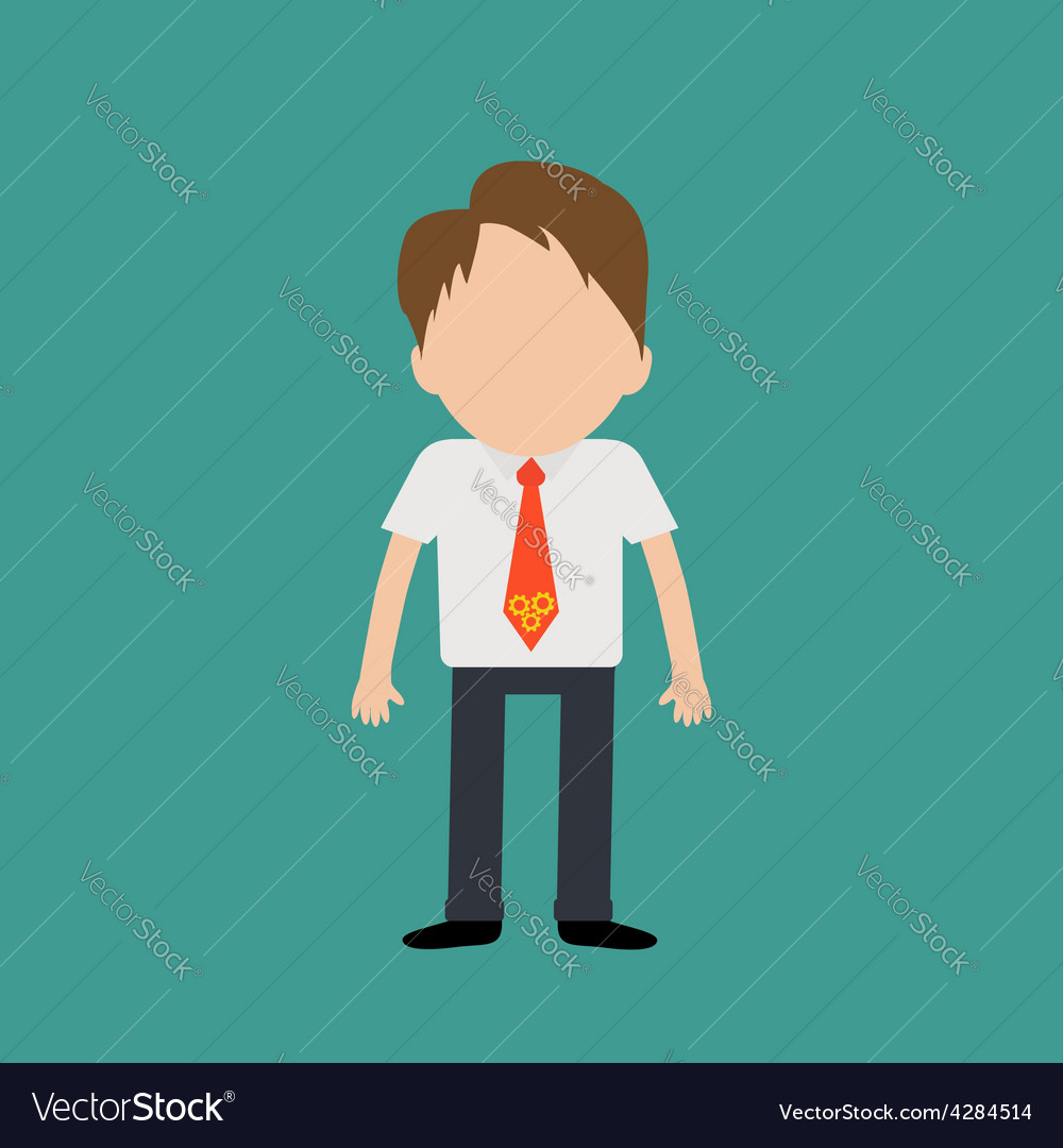 Businessman wearing a shirt neck tie with wheel vector | Price: 1 Credit (USD $1)