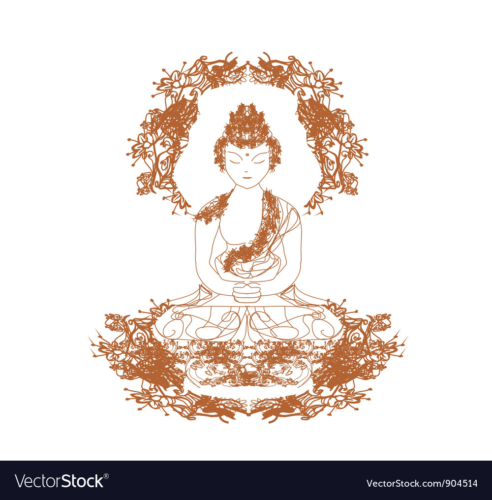 Chinese traditional artistic buddhism pa vector | Price: 1 Credit (USD $1)