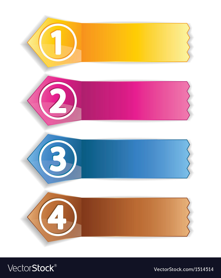 Color labels vector | Price: 1 Credit (USD $1)