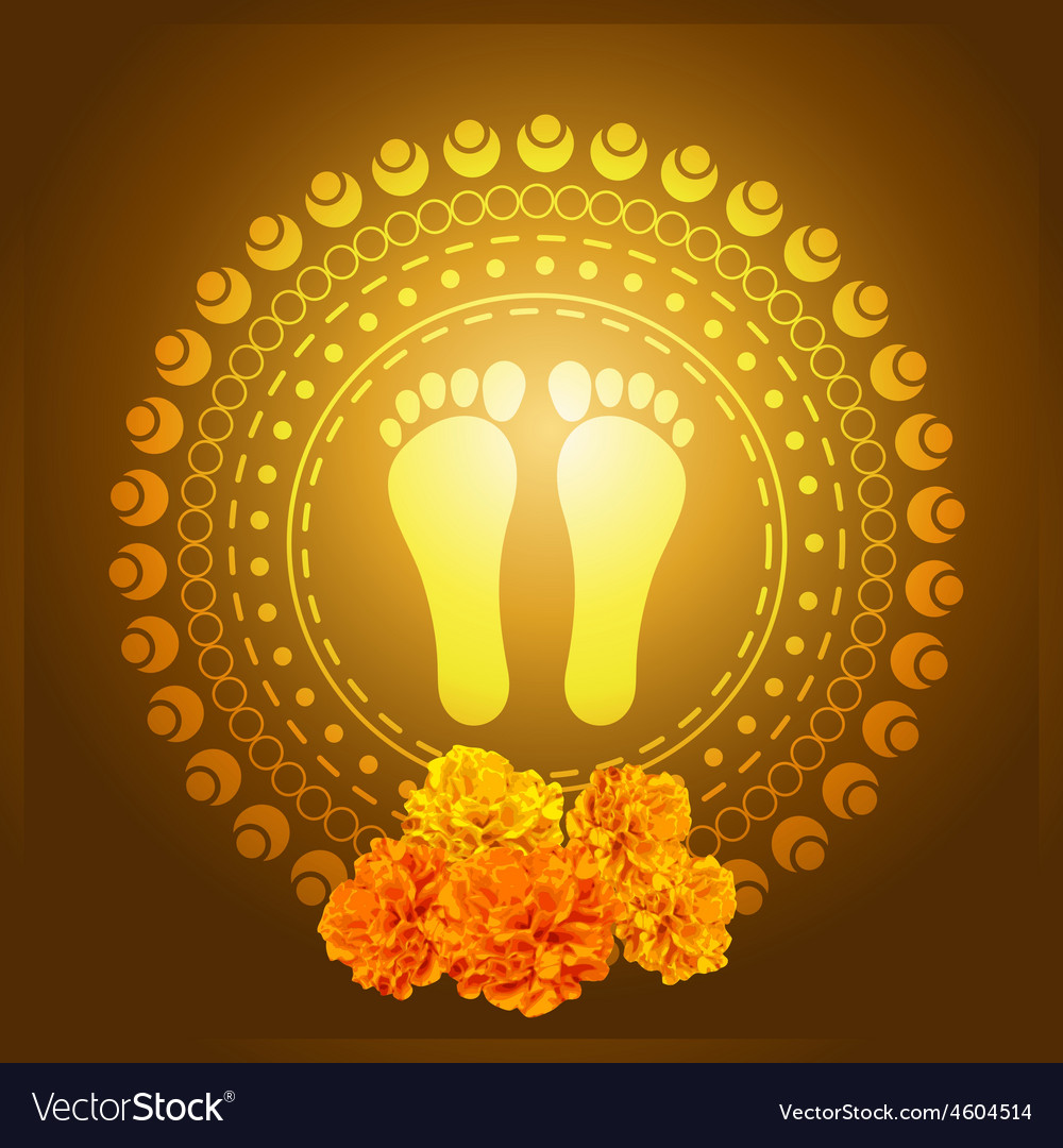 God foot print vector   Price: 1 Credit (USD $1)
