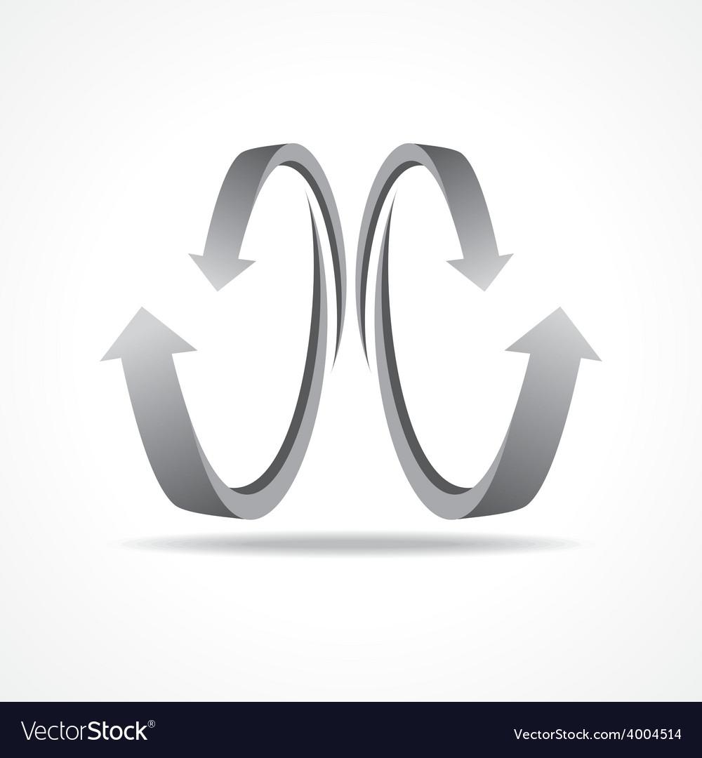 Grey business arrow icon vector | Price: 1 Credit (USD $1)