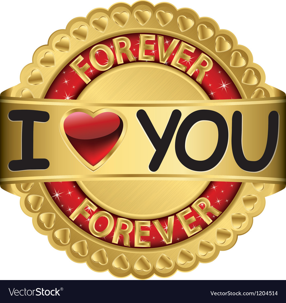 Happy valentines day i love you forever vector | Price: 1 Credit (USD $1)