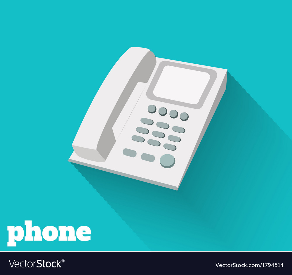 Phone flat vector | Price: 1 Credit (USD $1)
