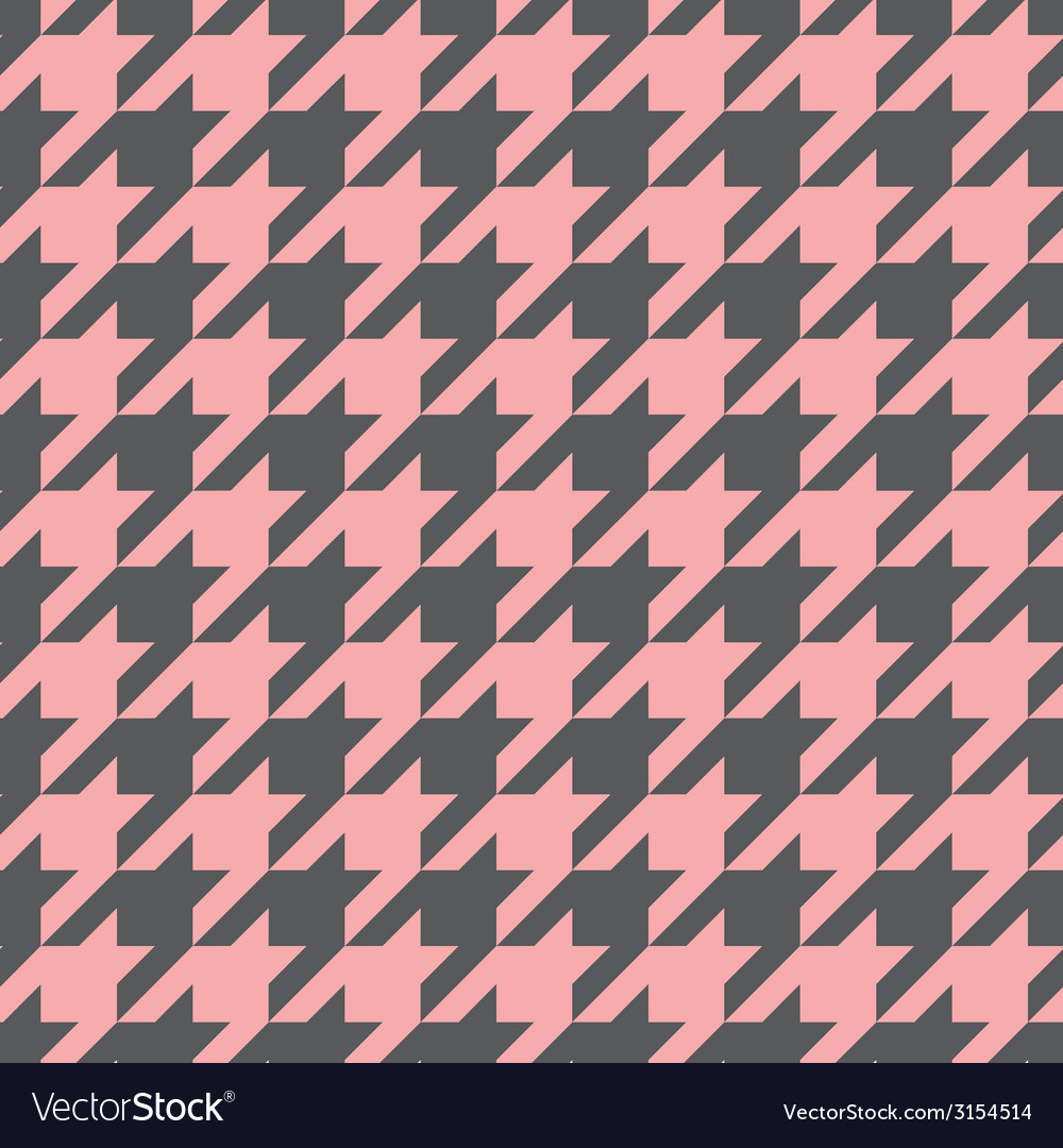 Tile houndstooth pink and grey pattern vector