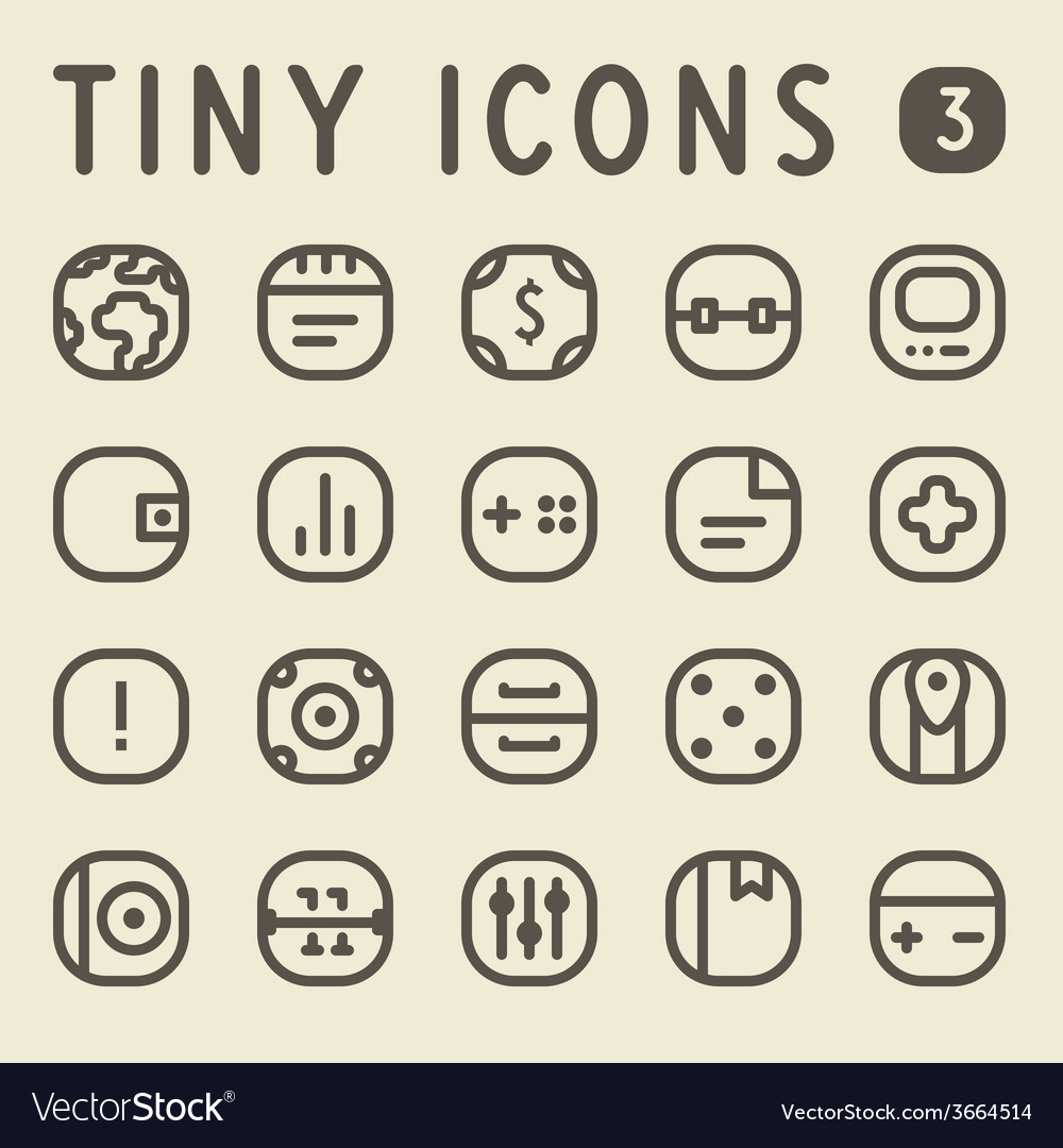 Tiny line icons for web and mobile applications vector | Price: 1 Credit (USD $1)