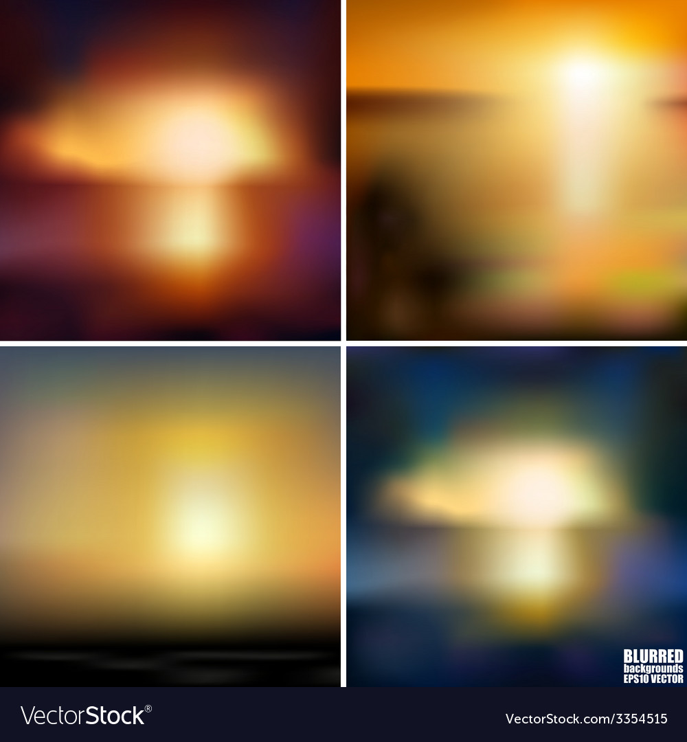 Abstract blurred backgrounds set abstract vector | Price: 1 Credit (USD $1)