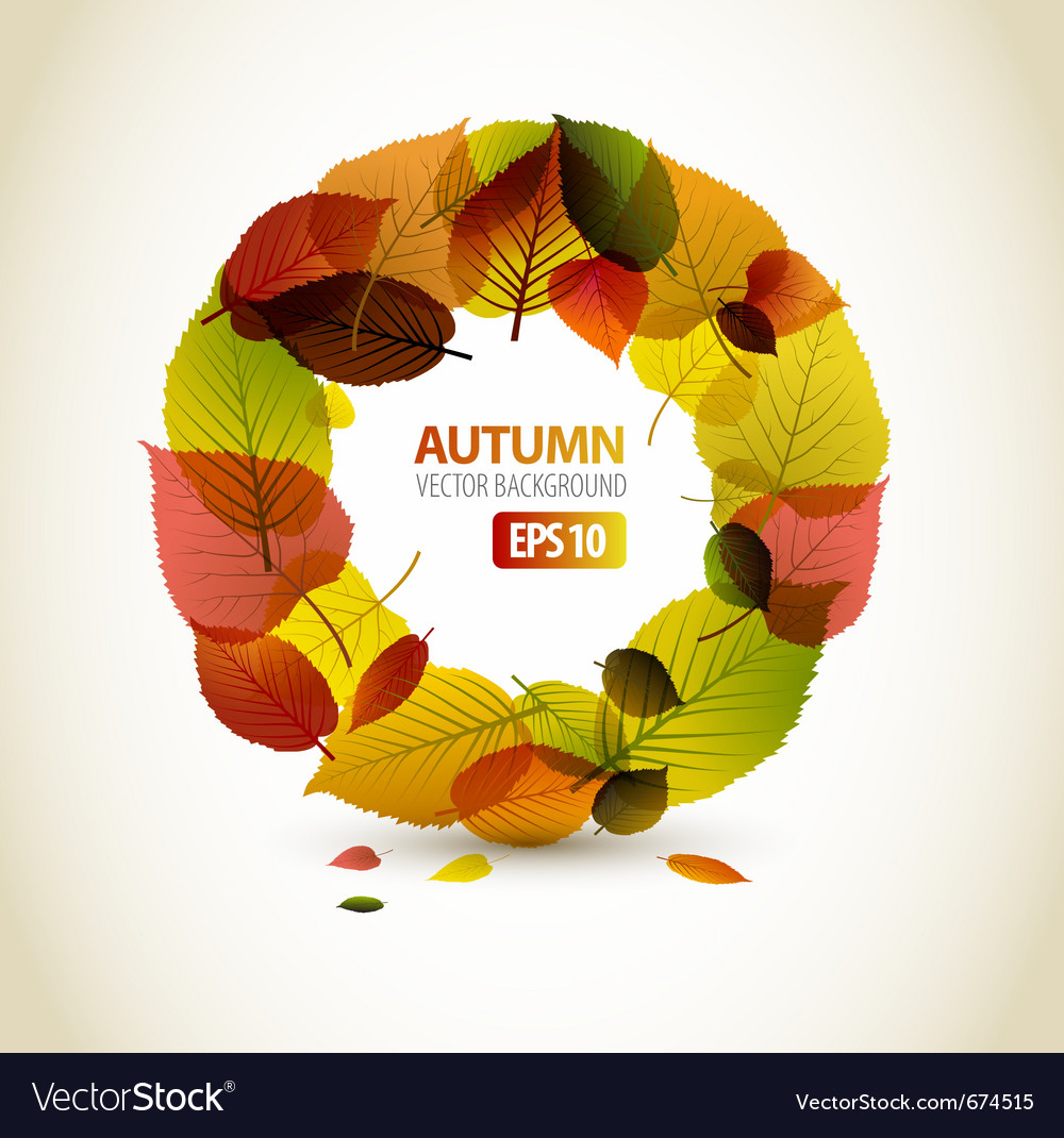 Autumn abstract floral vector | Price: 1 Credit (USD $1)