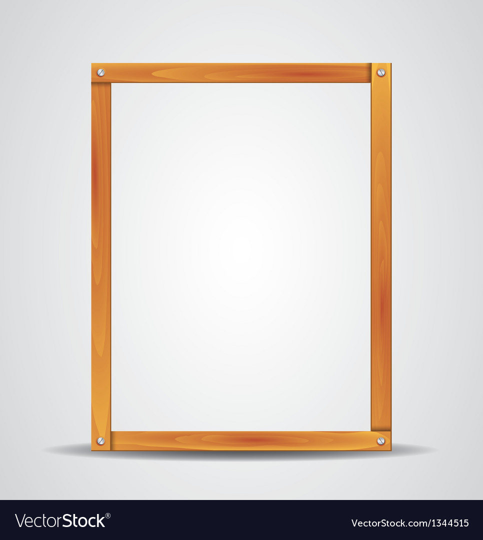 Blank wooden frame vector | Price: 1 Credit (USD $1)