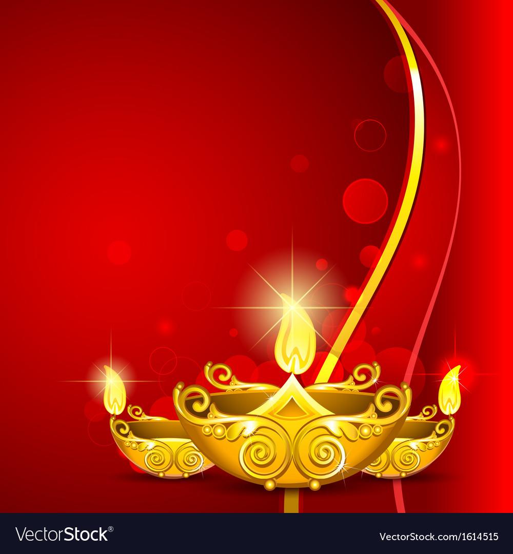 Burning diwali diya vector   Price: 1 Credit (USD $1)