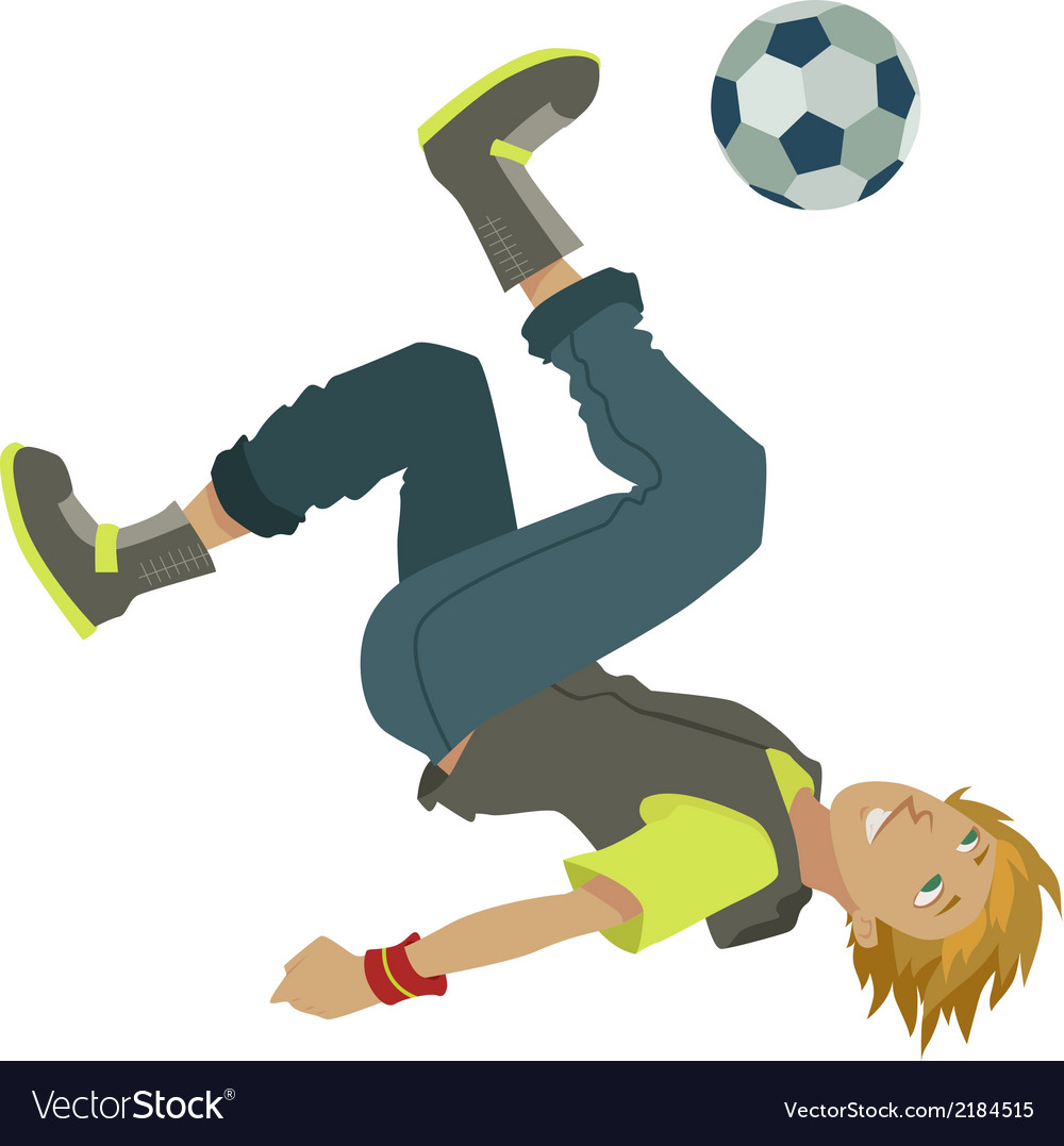 Cartoon soccer boy vector | Price: 1 Credit (USD $1)