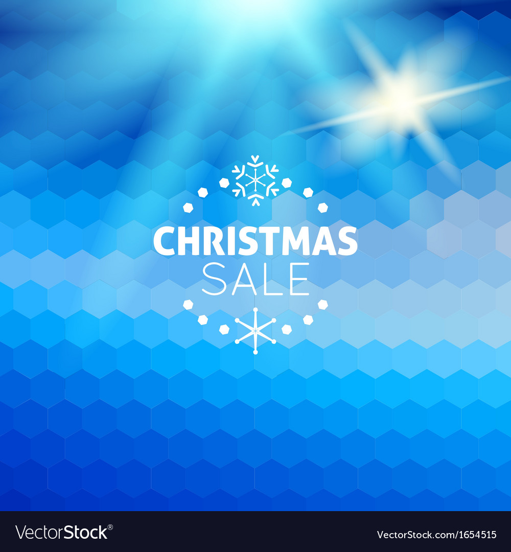 Christmas sale abstract blue background vector | Price: 1 Credit (USD $1)