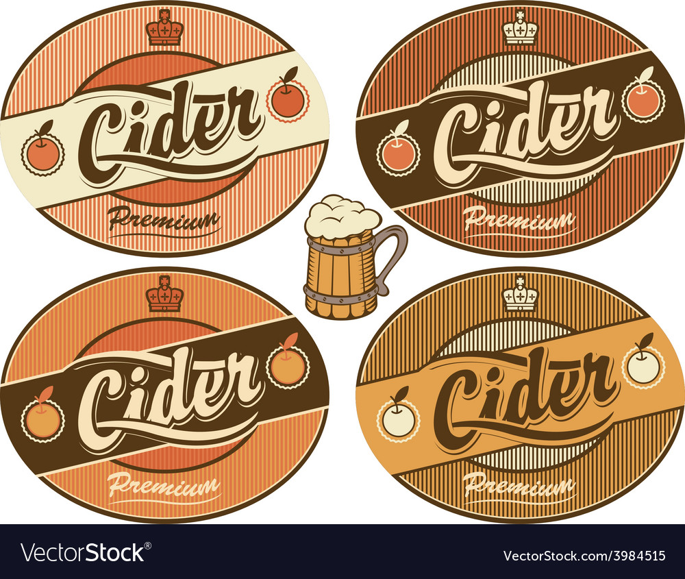 Cider label vector | Price: 1 Credit (USD $1)
