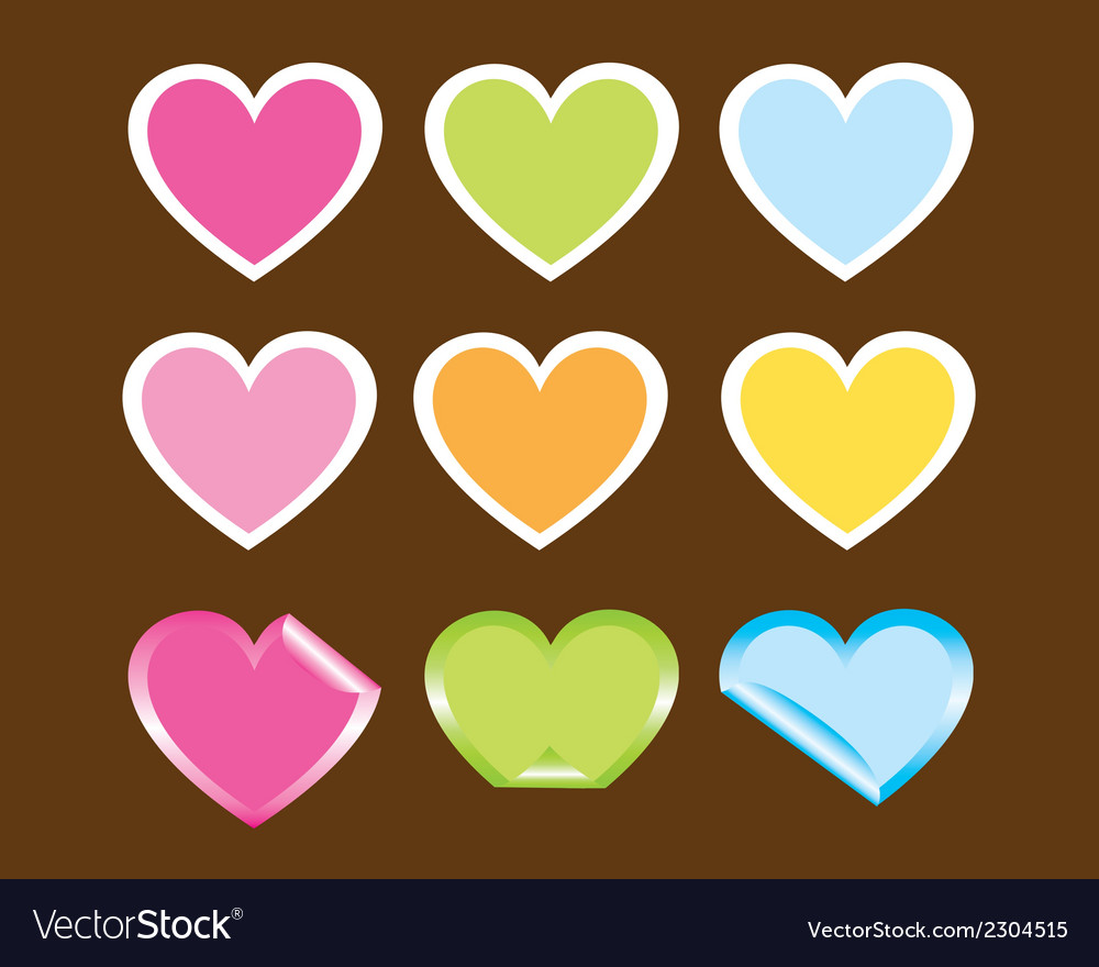 Cute hearts vector | Price: 1 Credit (USD $1)