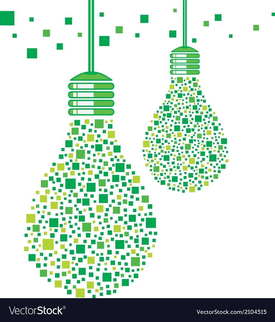 Green light bulb design vector | Price: 1 Credit (USD $1)